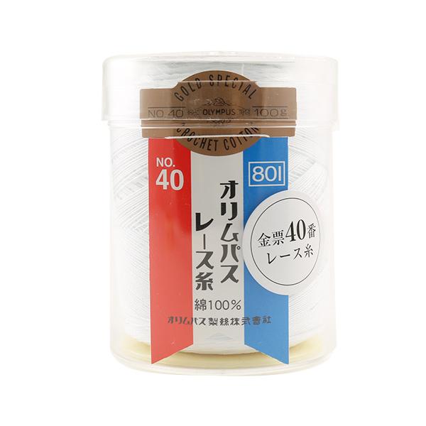 オリムパス 金票40番/100g 白(801)/6個セット 【まとめ買い・大口】