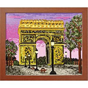 クロスステッチ刺繍キット オリムパス 一度は訪れたい世界の名所 パリの凱旋門(フラ 【まとめ買い・大口】