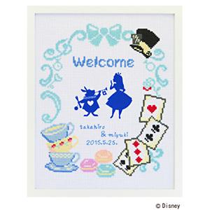 オリムパス ウェルカムボード刺繍キット 不思議の国のアリス/7467/5個セット 【まとめ買い・大口】