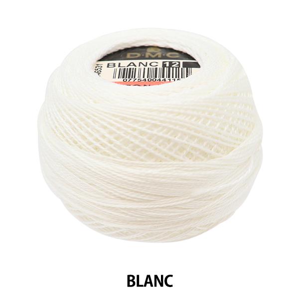 クロスステッチ刺繍 時間指定不可 フランス刺しゅう ミサンガ等に 刺しゅう糸 DMC 12番刺繍糸 公式ストア BLANC ディーエムシー