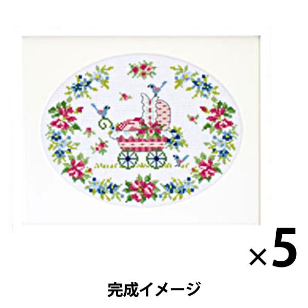 刺繍キット オリムパス オノエ・メグミ フラワーシンフォニー ロゼット&ベビーカー/7 【まとめ買い・大口】
