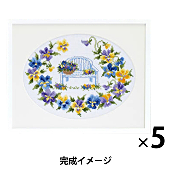 刺繍キット オリムパス オノエ・メグミ フラワーシンフォニー ビオラ&チェアー/7434 【まとめ買い・大口】