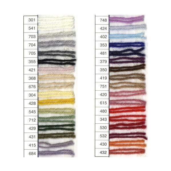 ♦ Winter wool bergrijahn Longchamp medium fine knitting and hand-knitted