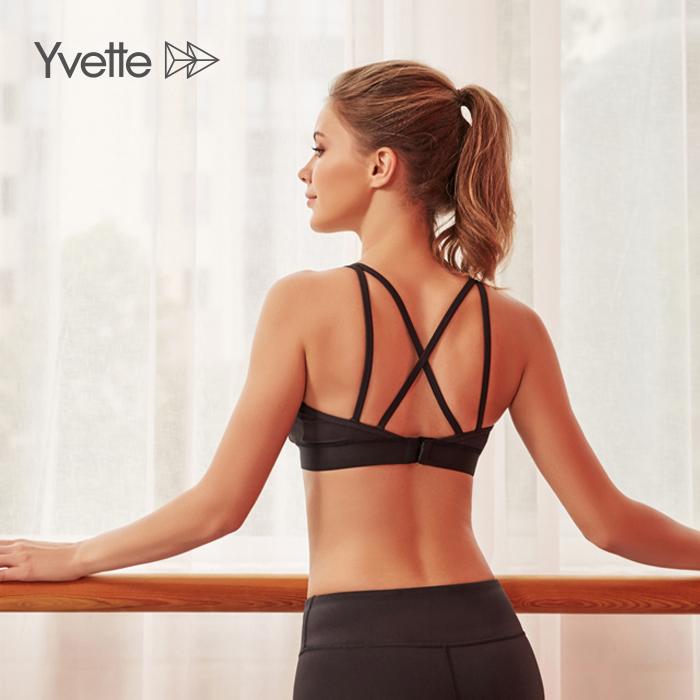 スポーツブラ 通気性よい 動きやすい Yvette イベット 揺れない 吸汗速乾 プレゼント ヨガウェア トレーニングウェア メッシュ素材 しっかりサポート ホットヨガ デポー