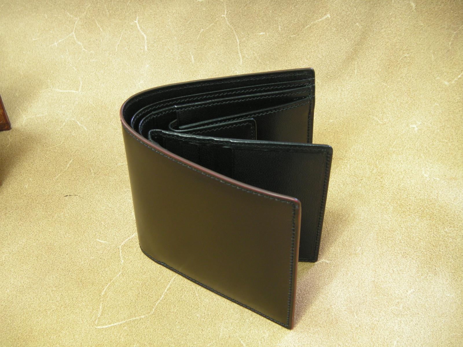 Vincis Gate中ベラ付財布(コ-ドバン:ブラック)