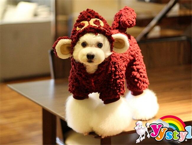 【メール便】可愛い猿ウェア♪もこもサルさんこつなぎ♪小型犬用♪★【セール】【トイプードル】【パピヨン】【チワワ】【ヨーキー】【ポメラニアン】【秋冬新作】【犬ウェア】【犬 服】【可愛い】