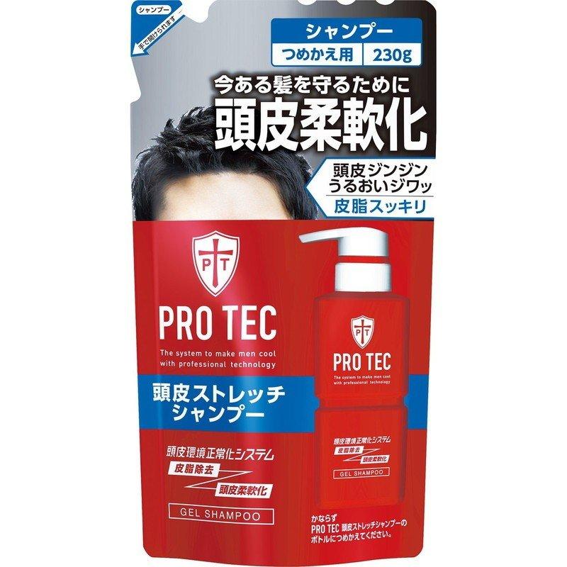 半額 3 980円以上お買い上げで送料無料 PROTEC プロテク 初売り 頭皮ストレッチシャンプー つめかえ用 ライオン プロテクメンズケア 230g
