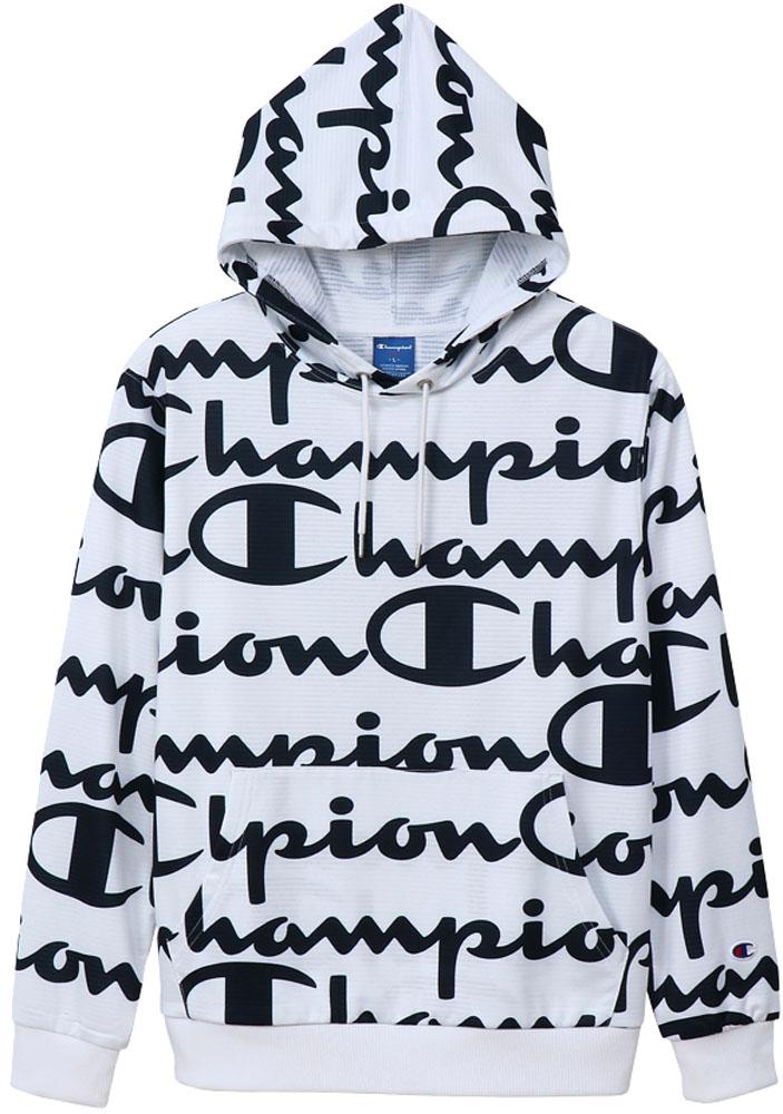チャンピオン Champion MEN'S TRAINING パーカー C3PS112 ホワイト マルチSP スウェット・トレーナー