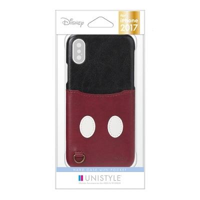 スマホケース 安売り ポイント消化 在庫処分 PGA iPhone X用 ミッキーマウス 4562358132841 送料無料 PG-DCS284MKY ポケット付き ハードケース バーゲンセール
