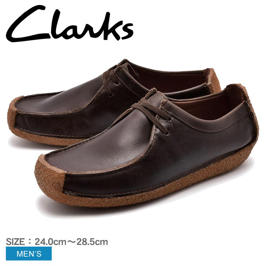 送料無料 CLARKS クラークス ナタリー カジュアルシューズ メンズ ブラウン NATALIE 26134201 10eg