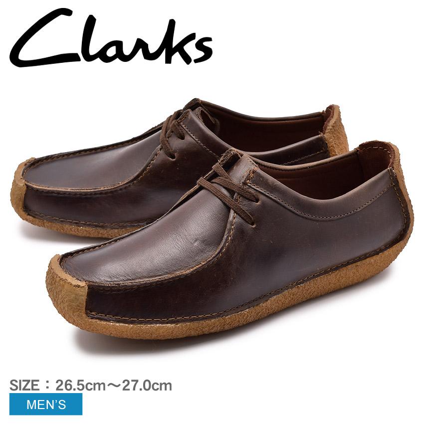 送料無料 CLARKS クラークス ナタリー カジュアルシューズ メンズ ブラウン NATALIE 26134201