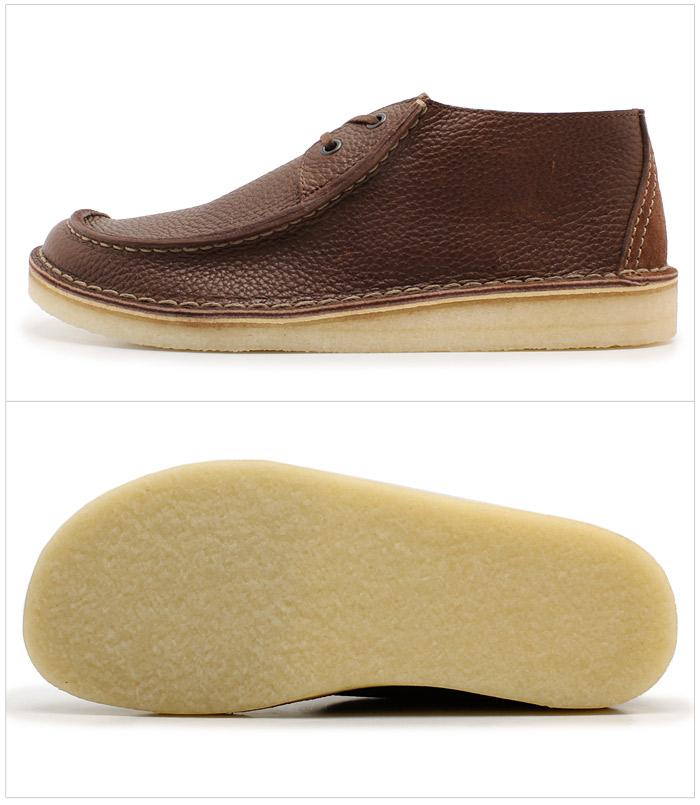克拉克克拉克煤層跋涉棕色皮革棕色英國標準 (20951140 煤層跋涉) 櫻花撓癢癢男士 (男) 皮鞋皮革花邊莫卡辛鞋天然皮革