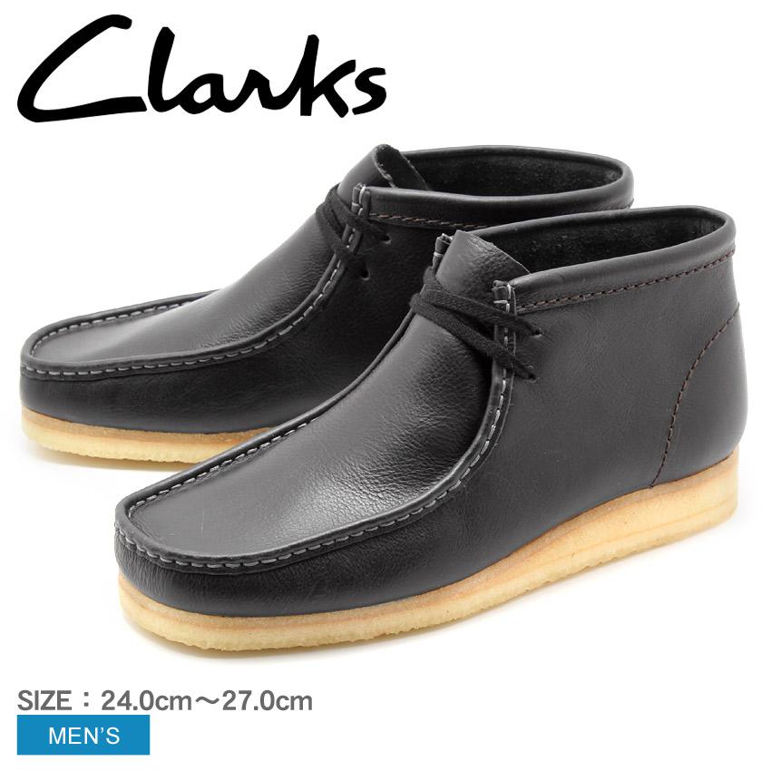 送料無料 クラークス オリジナルス CLARKS ブーツ ワラビーブーツ チャコールレザーWALLABEE BOOT CHARCOAL LEATHER 26125542靴 天然皮革 本革 カジュアル クレープソールメンズ