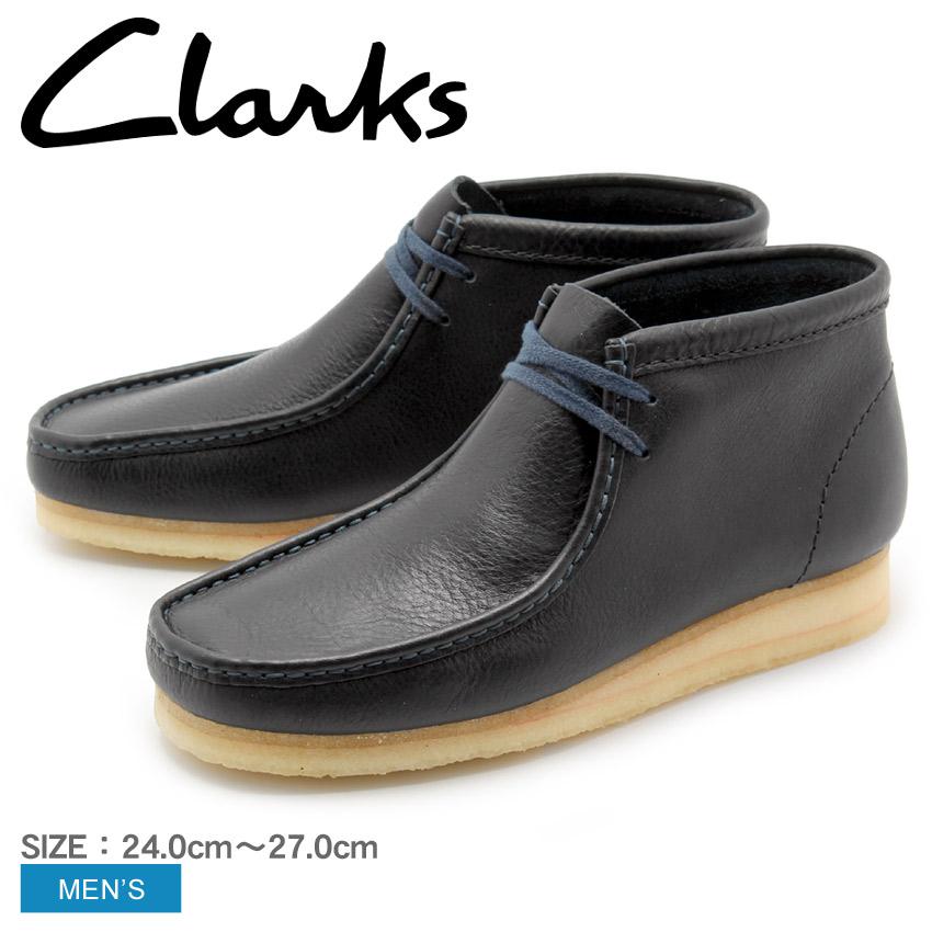 送料無料 クラークス オリジナルス CLARKS ブーツ ワラビーブーツ ネイビータンブレッド レザーWALLABEE BOOT NAVY TUMBLED LEATHER 26125545靴 天然皮革 本革 カジュアルシューズ クレープソールメンズ