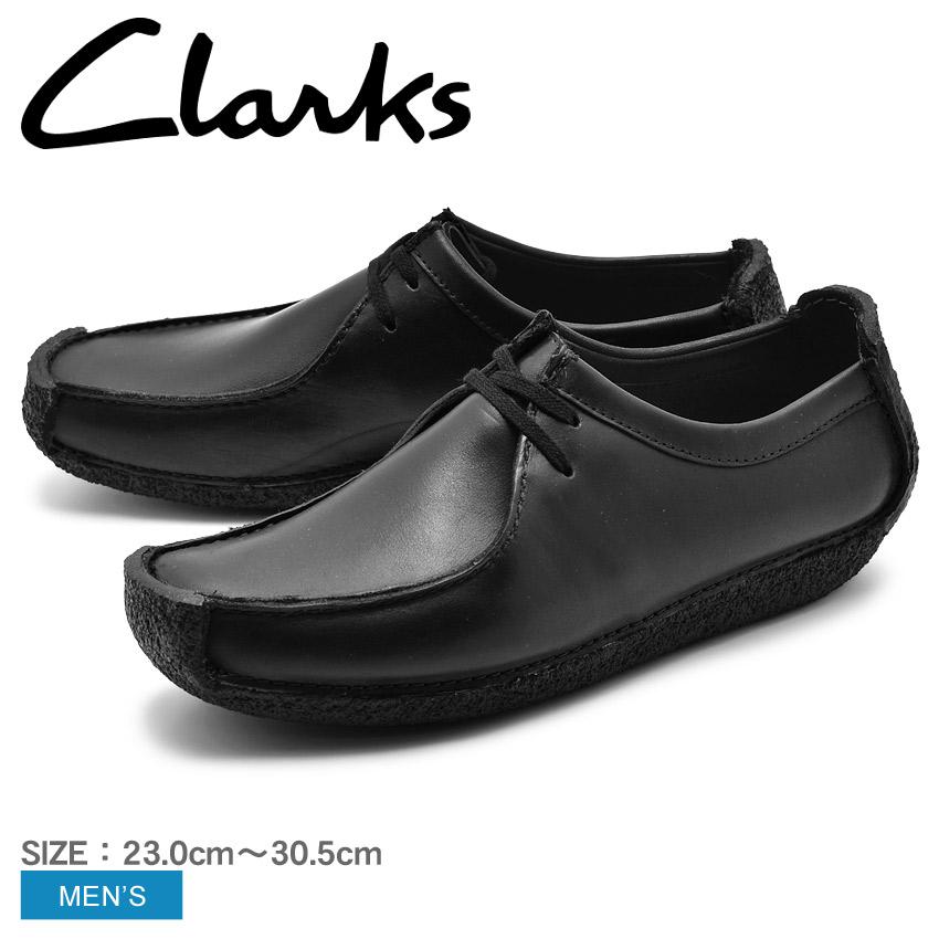 【全品500円引きクーポン】送料無料 CLARKS クラークス ナタリー ブラック UK規格 (NATALIE 00111154)黒色 本革 天然皮革 レザーシューズ 短靴 カジュアル ローカット メンズ