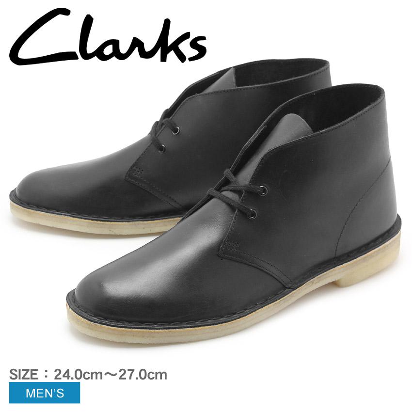 送料無料 クラークス オリジナルス CLARKS ブーツ デザートブーツ ブラック レザーDESERT BOOT BLACK LEATHER 26128792レザー シューズ 靴 ブーツ カジュアル クレープソール 黒メンズ