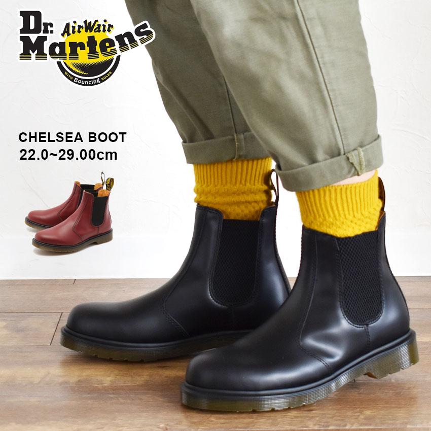 送料無料 ドクターマーチン サイドゴア ブーツ Dr.Martens 2976 黒 赤 ブラック レッド R11853001 R11853600 CHELSEA BOOT メンズ レディース チェルシー ブーツ 靴 シューズ レザー