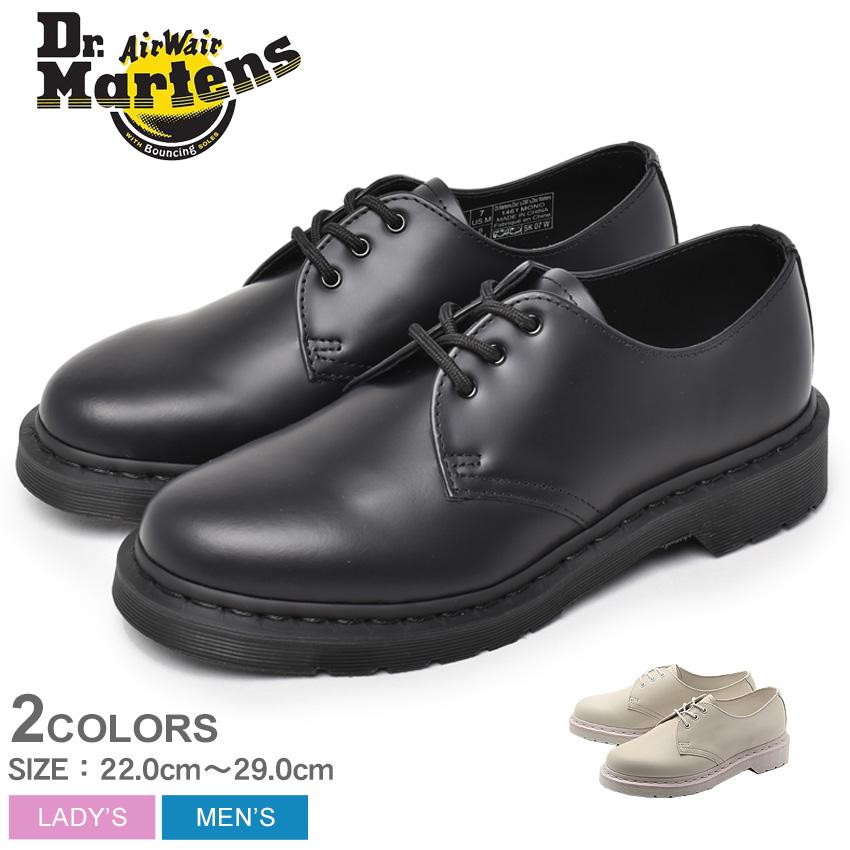 ドクターマーチン 3ホール シューズ メンズ レディース Dr.Martens 1461 モノ MONO ブラック 黒 ホワイト 白 14345001 14346100 プレーントゥ 短靴 ビジネスシューズ 3-EYE SHOE UK3 UK4 UK5 UK6 UK7 UK8 UK9 UK10 送料無料
