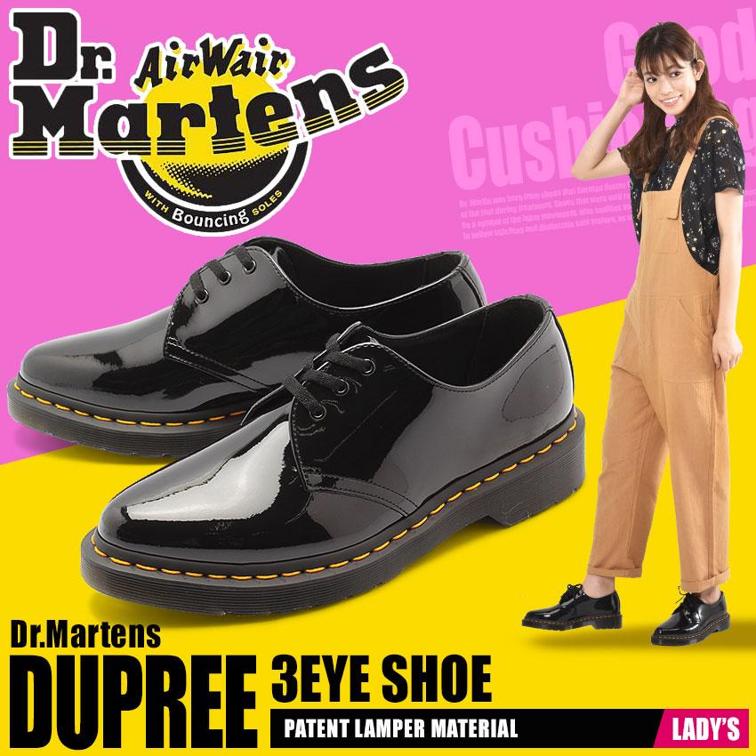送料無料 DR.MARTENS ドクターマーチン シューズ ブラックダンパー 3ホール シュー DUPREE 3 EYE SHOER22101001 レディース