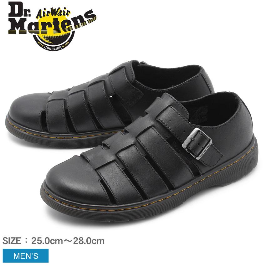 DR.MARTENS ドクターマーチン サンダル ブラック フェントン FENTON  24410001 メンズ 靴 シューズ コンフォート マーチン ブランド レザー カジュアル ベルト ストラップ おしゃれ お出かけ 散歩 人気 定番 軽量 黒