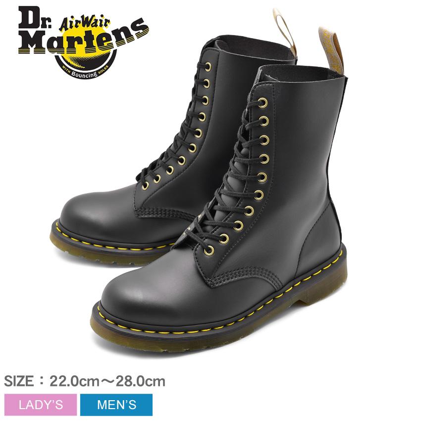 送料無料 DR.MARTENS ドクターマーチン ブーツ ブラック 黒 1490 VEGAN 10 EYE BOOTS 1490 ビーガン 10ホール ブーツ R23981001 メンズ レディース ユニセックス 靴 シューズ レザーシューズ ロングブーツ ロック カジュアル おしゃれ