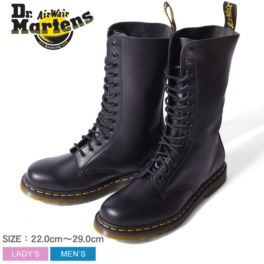 送料無料 DR.MARTENS ドクターマーチン ブーツ ブラック1914 14ホール ブーツ 1914 14 EYE BOOTR11855001 メンズ レディース