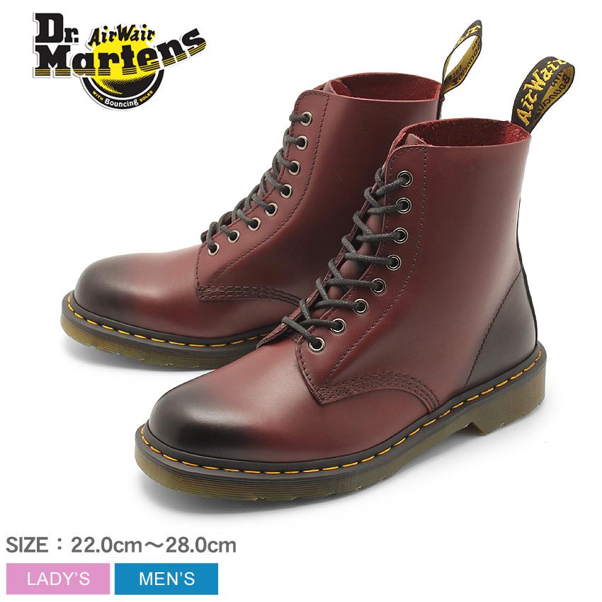 送料無料 DR.MARTENS ドクターマーチン ブーツ バーガンディ 赤 1460 パスカル 8EYE BOOT 1460 PASCAL 8ホール ブーツ R21154600 メンズ レディース ユニセックス 靴 シューズ レザーシューズ スムースレザー レースアップ カジュアル おしゃれ