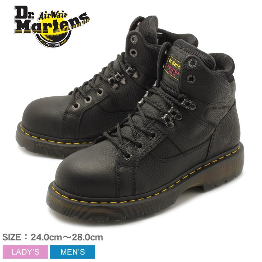 送料無料 DR.MARTENS ドクターマーチン セーフティーシューズ ブラック IRONBRIDGE STEEL TOE アイアンブリッジ スチールトゥ R12721001 メンズ レディース セーフティシューズ 安全靴 作業靴 ボランティア DIY 仕事 黒