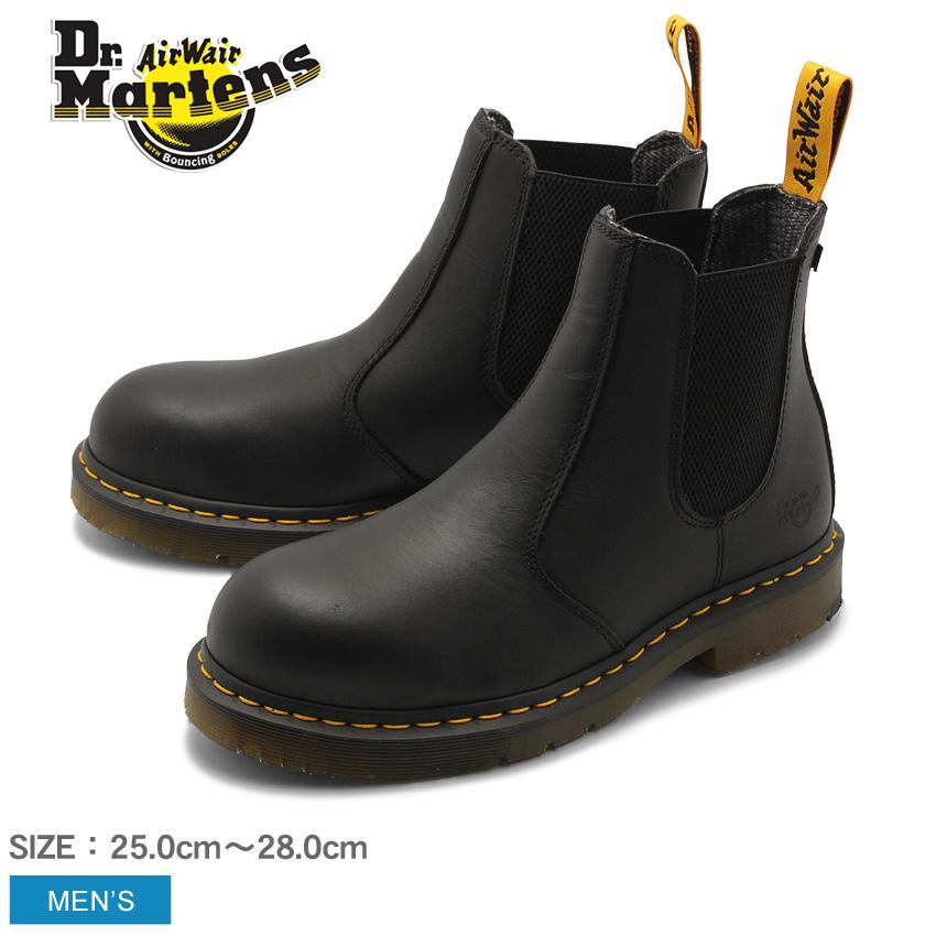 送料無料 DR.MARTENS ドクターマーチン セーフティーシューズ ブーツ ブラック フェルサイド スチールトゥ FELLSIDE STEEL TOE 23115001 メンズ 黒 靴 シューズ サイドゴア レザー 安全靴 おしゃれ カジュアル