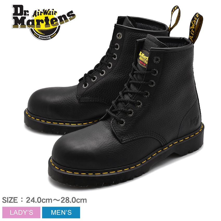送料無料 DR.MARTENS ドクターマーチン セーフティシューズ ブラック アイコン 7B10 スチールトゥ ICON 7B10 STEEL TOE 12231002 メンズ レディース 安全靴 作業靴 ボランティア DIY 仕事 黒