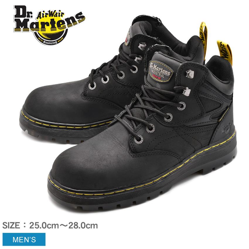 送料無料 DR.MARTENS ドクターマーチン セーフティーシューズ ブラック PLENUM WATERPROOF STEEL TOE プレナム ウォータープルーフ スチールトゥ R23388001 メンズ 安全靴 作業靴 ボランティア DIY 仕事 黒