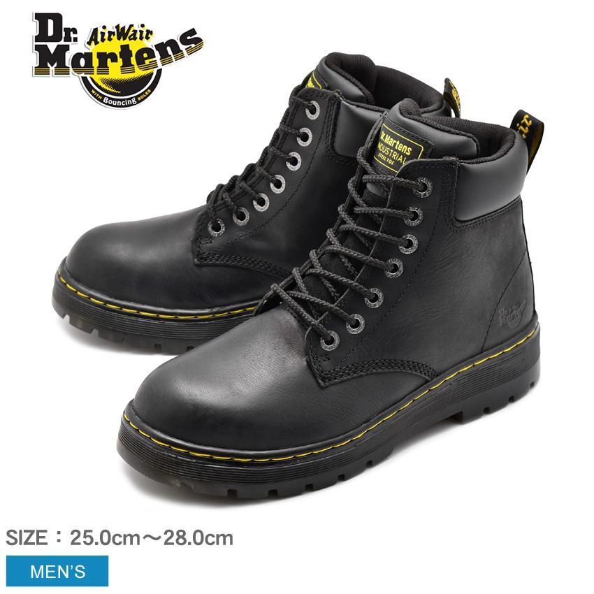 送料無料 DR.MARTENS ドクターマーチン セーフティーシューズ ブラック ウィンチ スチールトゥ WINCH STEEL TOE R16257001 メンズ 安全靴 作業靴 ボランティア DIY 仕事 黒