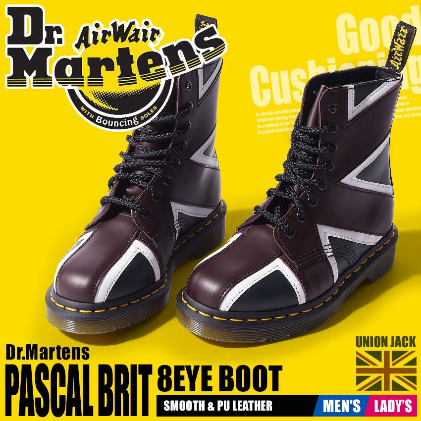 送料無料 ドクターマーチン Dr.Martens パスカル ブリット 8ホール ブーツ ネイビー×オックスブラッド×ホワイトDR.MARTENS PASCAL BRIT 8EYE BOOT 22774410レザー 本革 ユニオンジャック 靴 黒 メンズ レディース