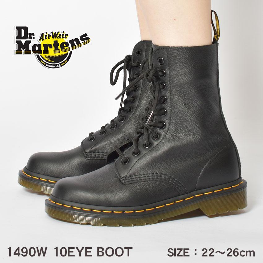 ドクターマーチン 10ホール ブーツ レディース R22524001 超安い 550円引きクーポン 対象 Dr.Martens 安値 1490W 10EYE BOOT マーチン グレインナッパレザー ショートブーツ 黒 靴 柔らかい ミドル丈 疲れにくい レザー シューズ ブランド