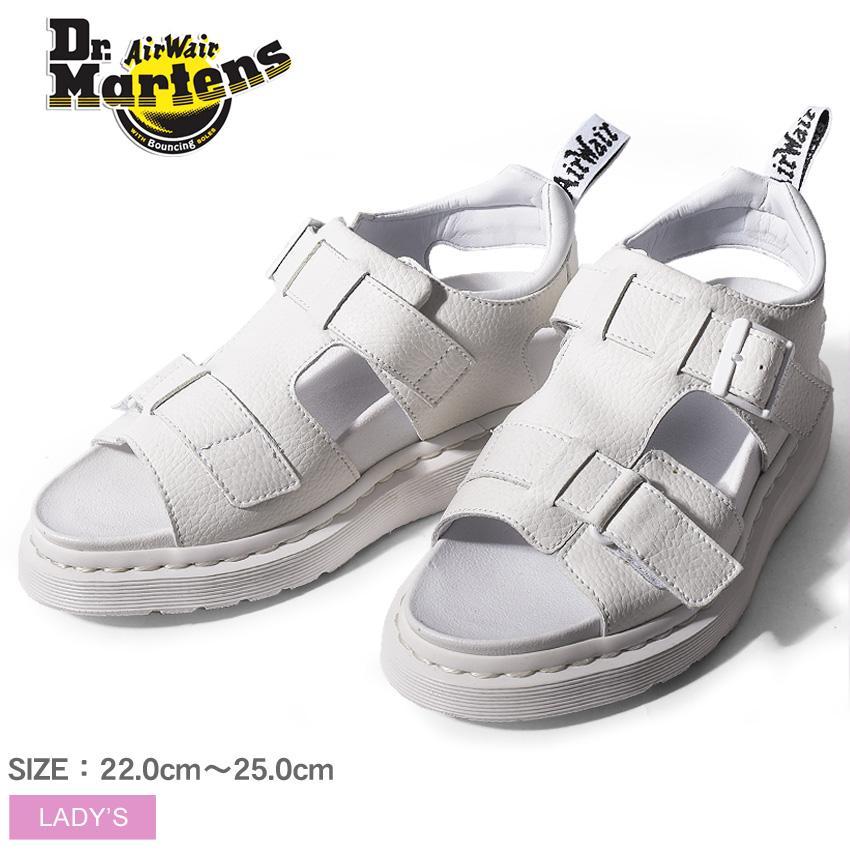 送料無料 ドクターマーチン Dr.Martens カミラ ストラップ サンダル ホワイトDR.MARTENS KAMILAH STRAP SANDAL 21895100レザー 本革 コンフォート 靴レディース(女性用)
