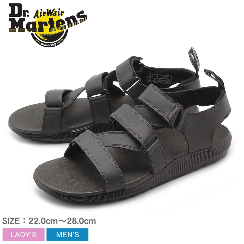 e625c381 DR.MARTENS doctor Martin sandals black redfin REDFIN 23483001 men's Lady's  ...