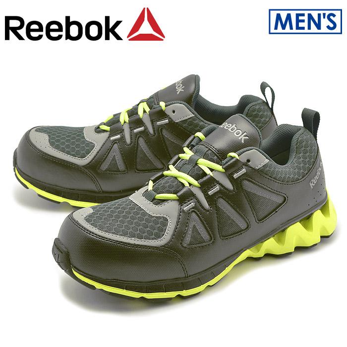 送料無料 リーボック ワーク REEBOK WORK スニーカー ZIGKICK WORK ブラック×グリーンRB3015靴 安全靴 セーフティーシューズメンズ