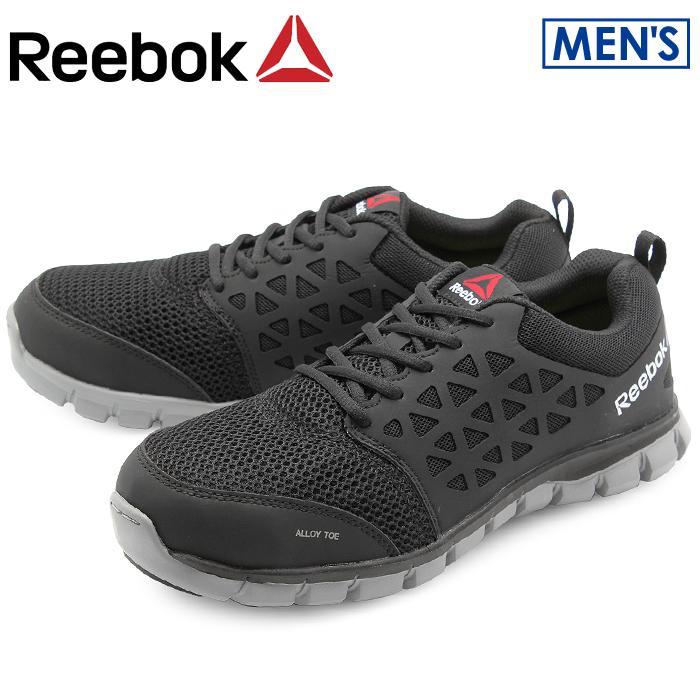 送料無料 リーボック ワーク REEBOK WORK スニーカー サブライト クッション ワーク ブラックREEBOK SUBLITE CUSHION WORK RB4041 BLACKシューズ 靴 安全靴 仕事 黒メンズ