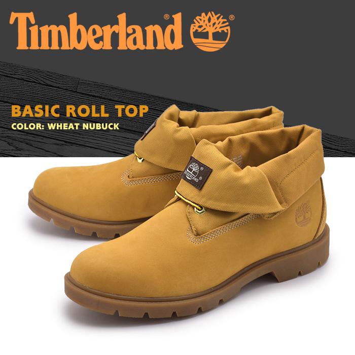 送料無料 ティンバーランド (TIMBERLAND) ブーツ ベーシック ロールトップ ウィートヌバック(6634A BASIC ROLL TOP)ショート ミッドカット シューズ 天然皮革 靴メンズ