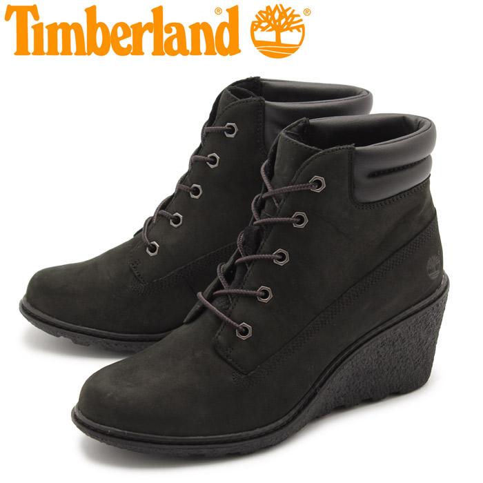送料無料 ティンバーランド TIMBERLAND アースキーパーズ アムストン シックスインチ ブーツ (EARTHKEEPERS AMSTON 6IN BOOT NUBUCK TB08253A) レディース レザー 本革 ヌバック ウェッジソール ショートブーツ