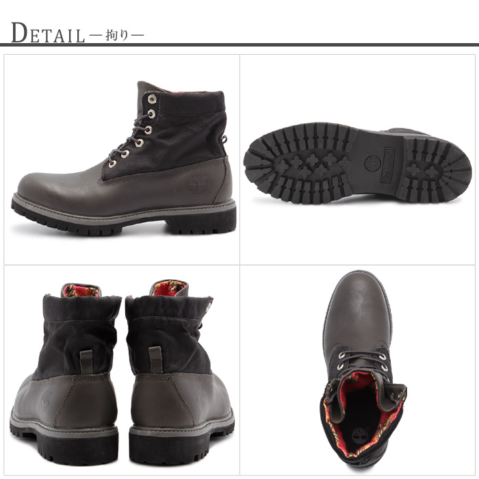 Roll top Timberland boots (TIMBERLAND) 6140 R gray leather (TIMBERLAND 6140R GREY LEATHER) men's (men's) work boots [winter]
