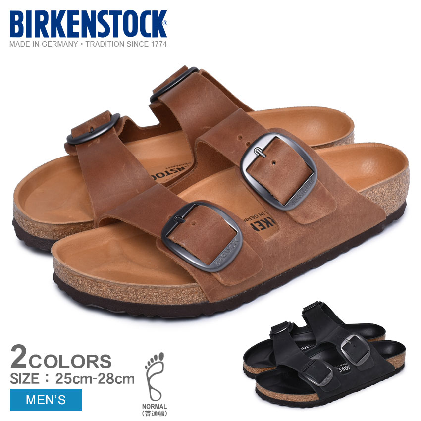 BIRKENSTOCK ビルケンシュトック コンフォートサンダル アリゾナ ビッグ バックル ARIZONA Big Buckle 1012204 1012206 メンズ 普通幅タイプ ビルケン サンダル 天然皮革 本革 シューズ 靴 黒