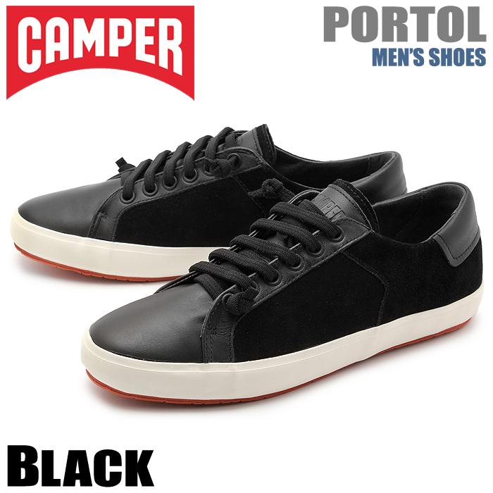 送料無料 カンペール(CAMPER) ポートル ブラック(CAMPER 18839 023 PORTOL)メンズ(男性用) 靴 シューズ カジュアル スニーカー ローカット 天然皮革 レザー