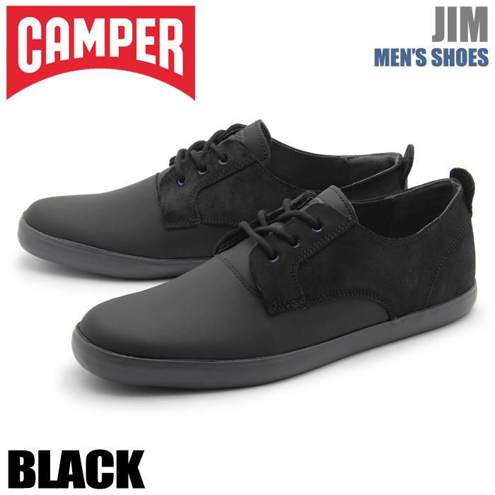 送料無料 カンペール(CAMPER) スニーカー JIM ブラック(CAMPER JIM K100084 009)靴 シューズ 天然皮革 ローカット スムースレザーメンズ(男性用)
