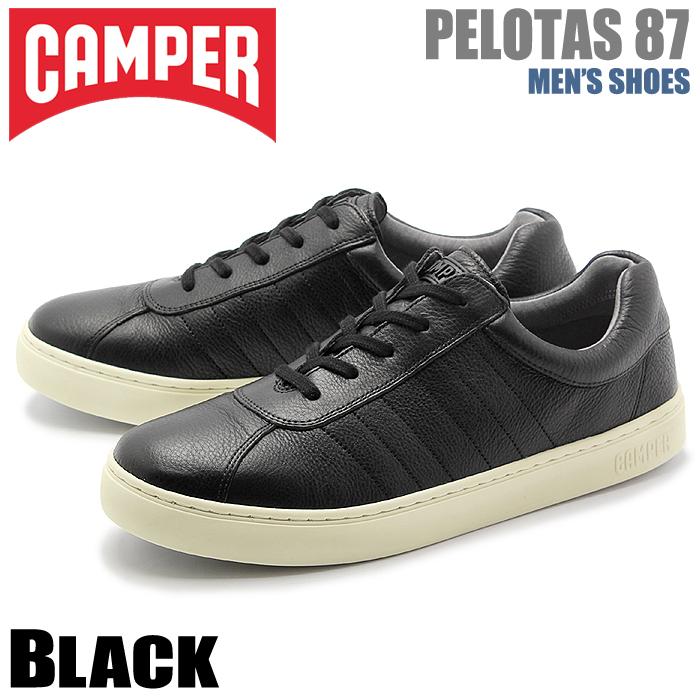 送料無料 カンペール(CAMPER) ぺロータス 87 ブラック(CAMPER K100006 001 PELOTAS 87)メンズ(男性用) 靴 シューズ カジュアル スニーカー 天然皮革 レザー ローカット