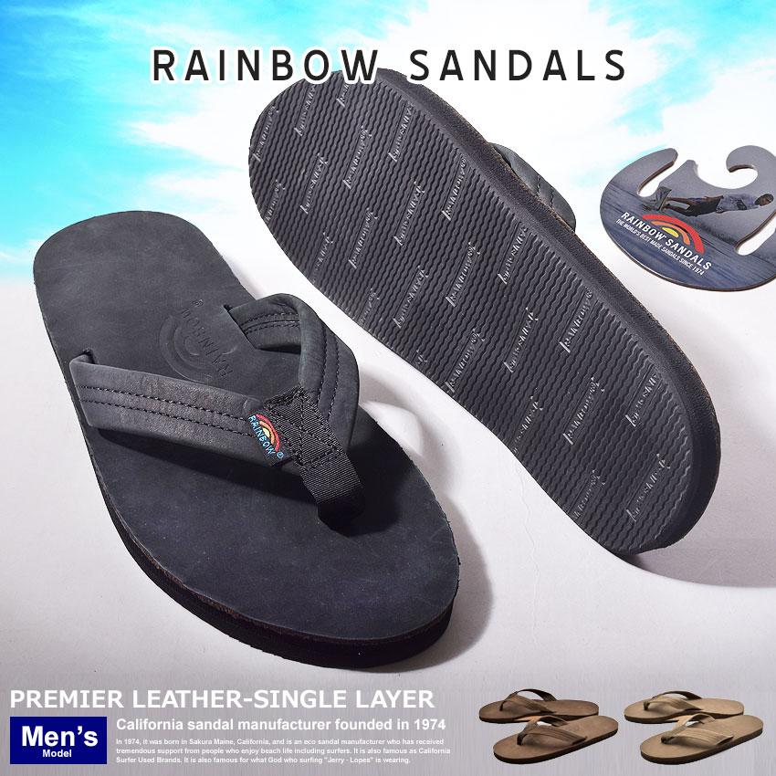 メンズ 全3色プレミアムレザーシングルレイヤー PREMIER LEATHER-SINGLE LAYER301ALTS DKBP PBLK EXPR レインボーサンダル サンダル RAINBOW SANDALS 送料無料