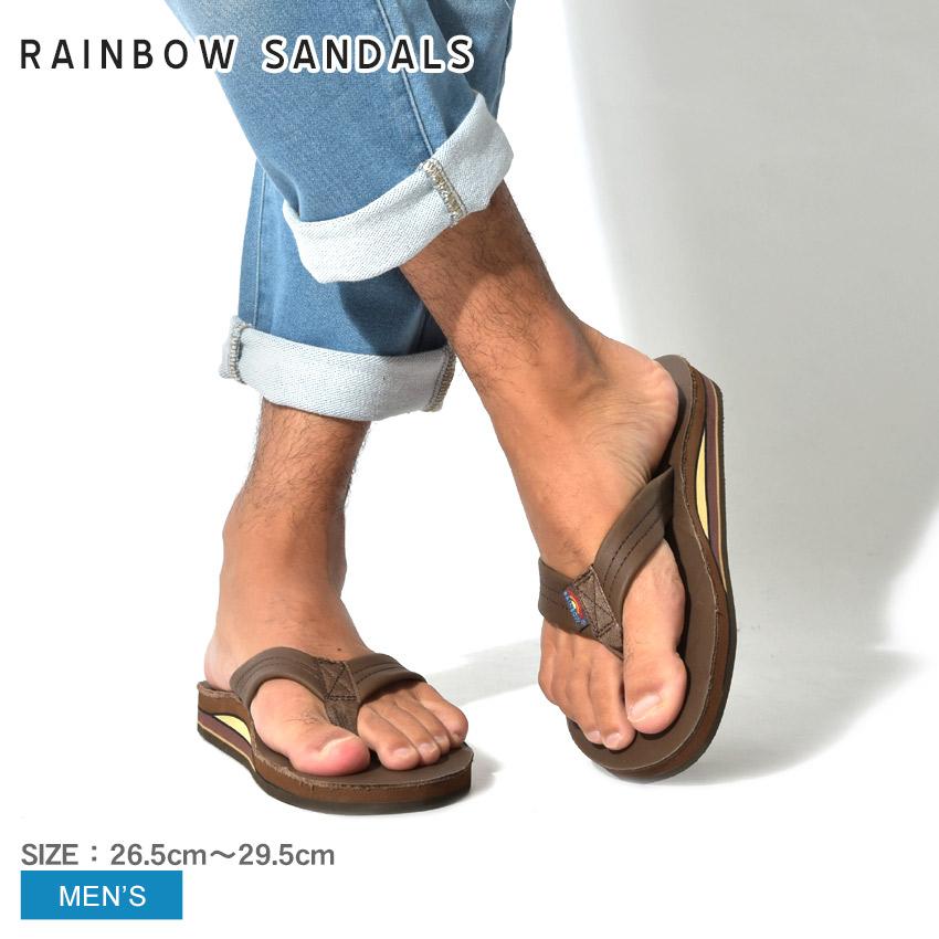 送料無料 RAINBOW SANDALS レインボーサンダル サンダル ブラウンダブルレイヤー クラシック レザー DOUBLE LAYER CLASSIC LEATHER302ALTS MOCHA メンズ