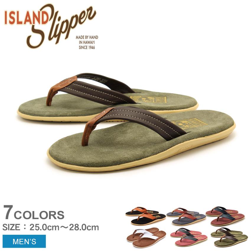 送料無料 ISLAND SLIPPER アイランドスリッパ サンダル 全7色クラシック レザー + スエード トング CLASSIC LEATHER + SUEDE THONGPT203ML メンズ