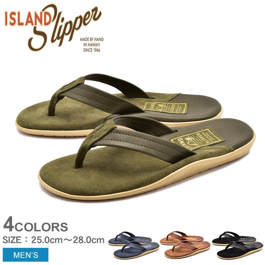 送料無料 ISLAND SLIPPER アイランドスリッパ サンダル 全4色ツートーン レザー TWO TONE LEATHERPT205 メンズ