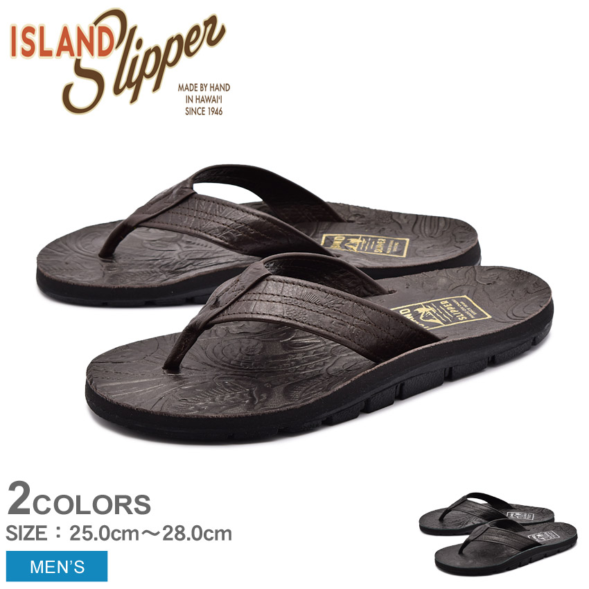 送料無料 ISLAND SLIPPER アイランドスリッパ サンダル 全2色パニオロ ツールド レザー アウトドア PANIOLO TOOLED LEATHER OUTDOORIBL8903L メンズ